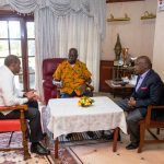 President Kenyatta condoles with former President Moi at his Kabarak home