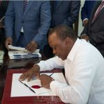 Kenyatta signs Health Laws (Amendment), Assumption of the Office of County Governor bills into law