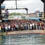 Rescue operations in top gear to salvage the sunk vehicle at Likoni channel
